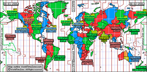 World Time Zone Map to saving on International World Phone… | Flickr