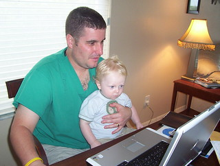 Jonah and Dad on the Computer | by Misteryankee