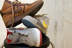 Pile Of Nike Shoes
