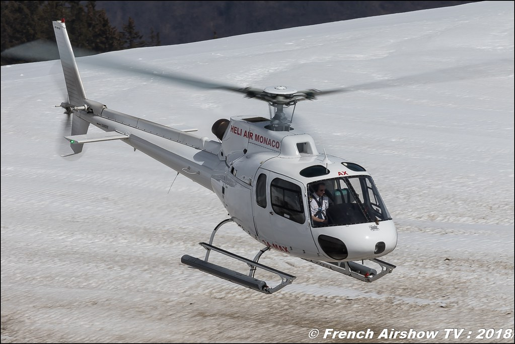 Aérospatiale AS-350 BA Ecureuil - 3A-MAX , Fly Courchevel 2018 - Altiport Courchevel , Fly Courchevel 2018 - Altiport Courchevel , Meeting Aerien 2018