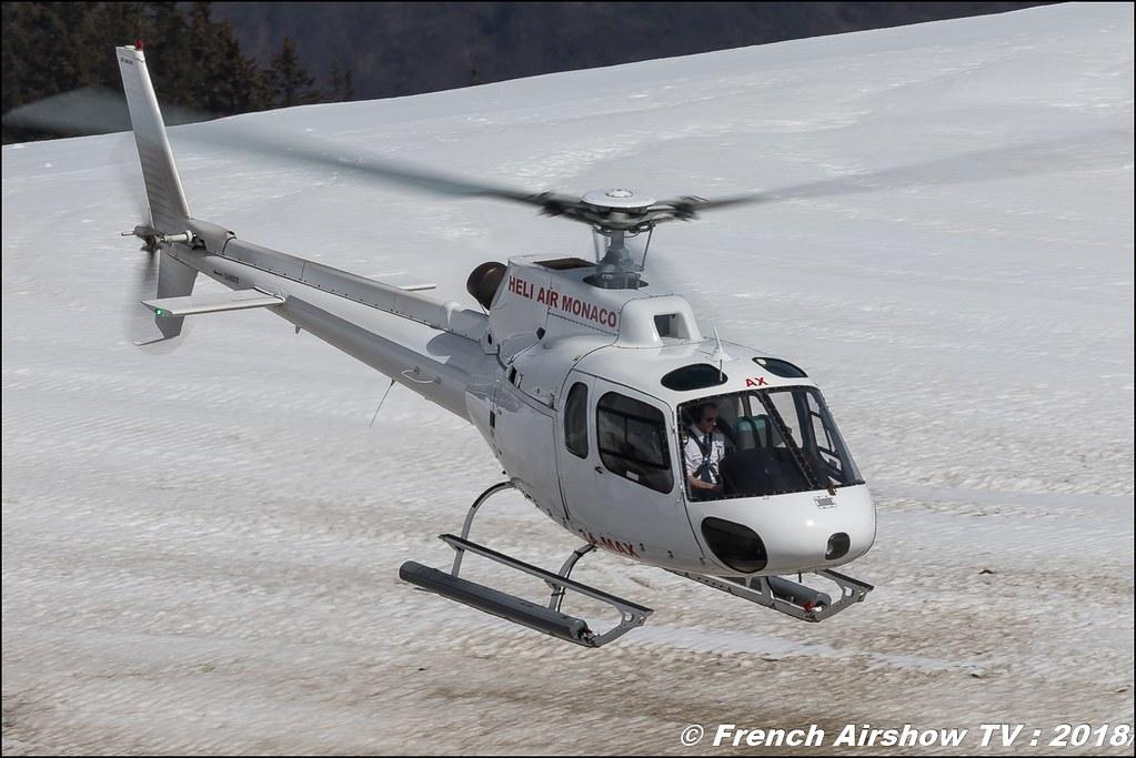 Aérospatiale AS-350 BA Ecureuil - 3A-MAX , Fly Courchevel 2018 - Altiport Courchevel , Fly Courchevel 2018 - Altiport Courchevel , Meeting Aerien 2018