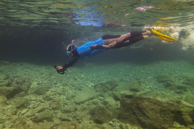 Haciendo snorkeling en la playa de Las Canteras (Las Palmas de Gran Canaria)