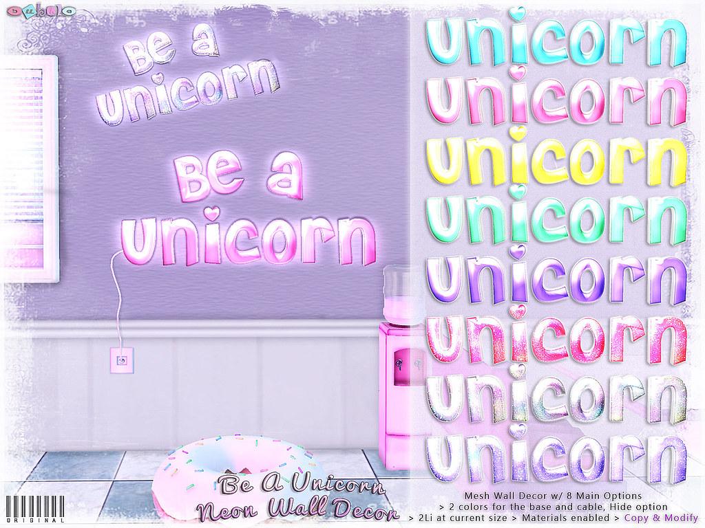 Bubble Be A Unicorn Neon Wall Decor Exclusive The Se Flickr