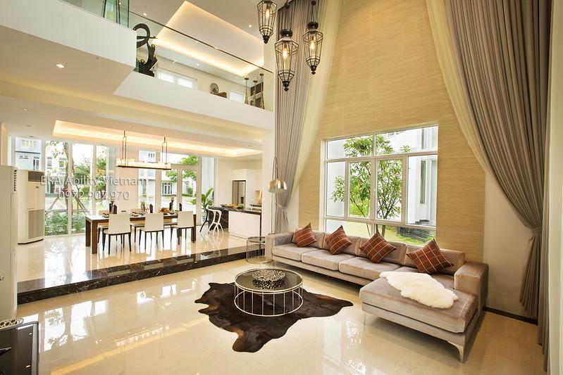 Phòng khách nhà mẫu biệt thự Villa Park vô cùng sang trọng