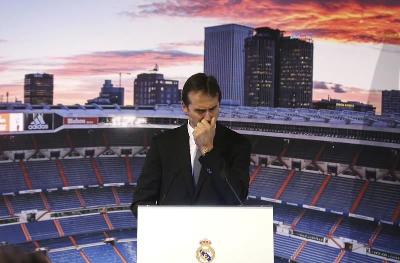 Julen Lopetegui日前遭開除西班牙國家隊總教練的職位。(達志影像)
