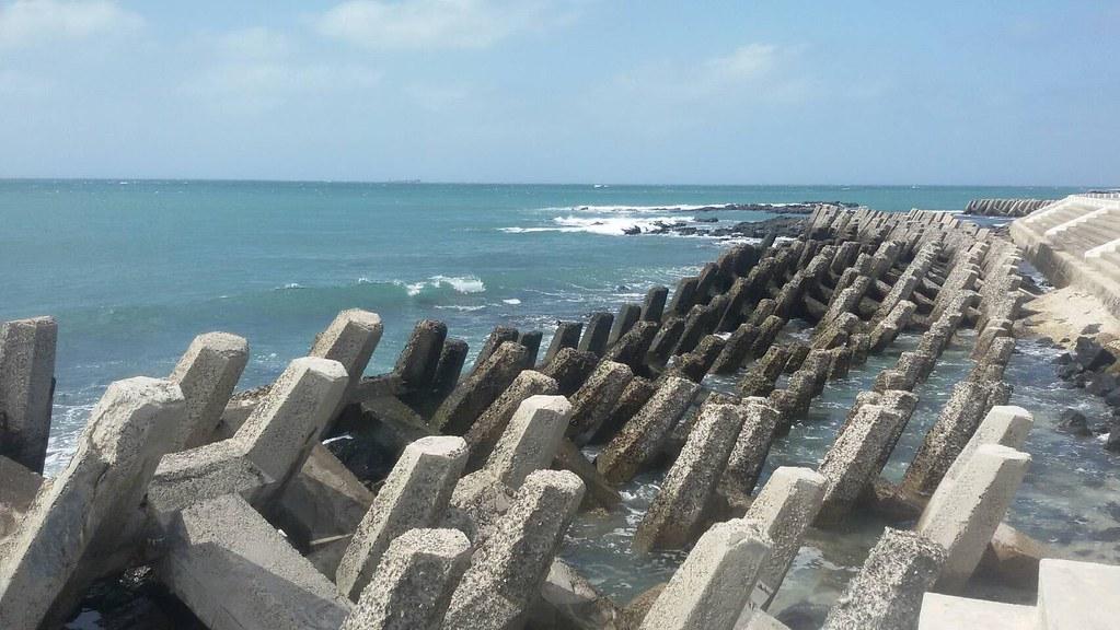 七美 南滬港碼頭 附近的消波塊