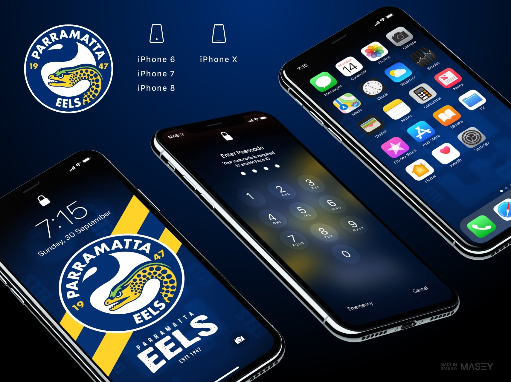 Parramatta Eels iPhone Wallpaper