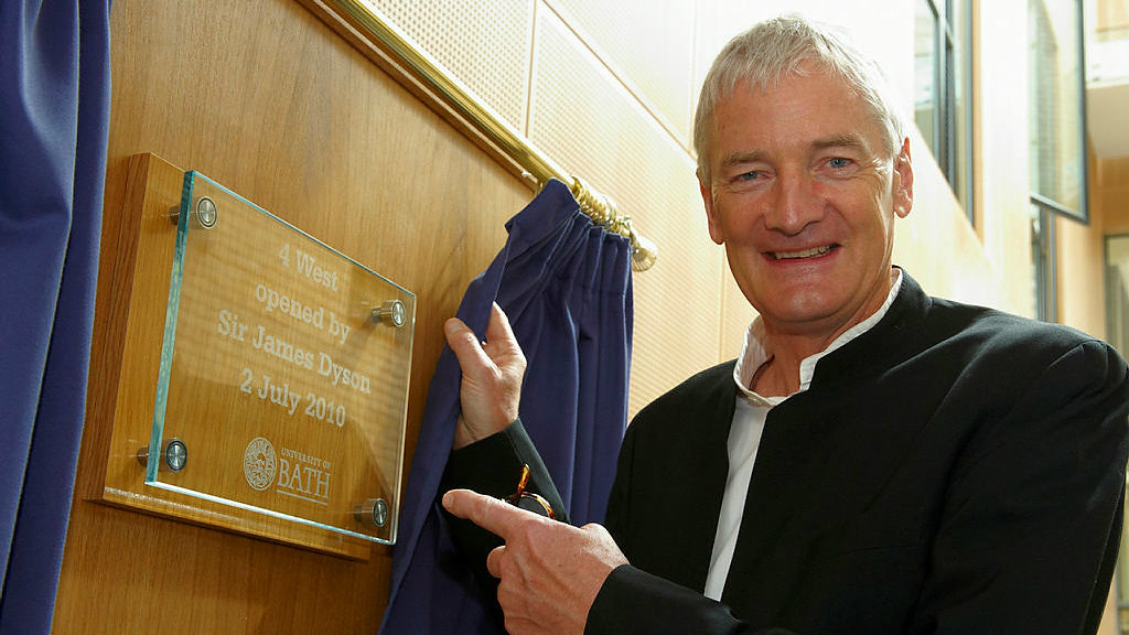 Sir James Dyson opening the new 4 West building in 2010