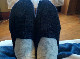 Malabrigo slippers for me (3) | by tachyondecay