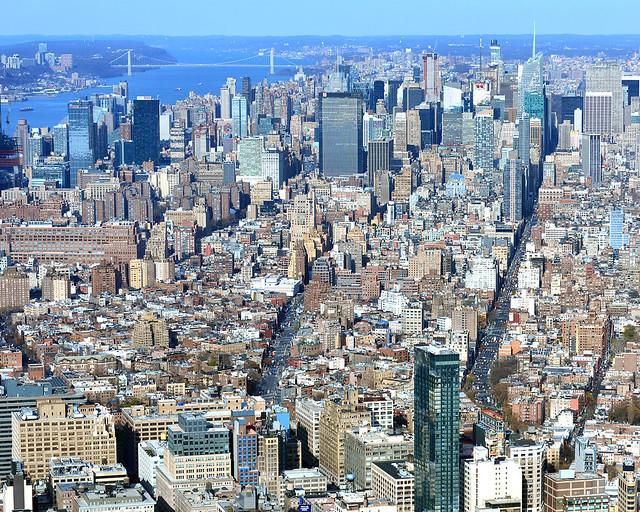 Avenidas de Nueva York desde lo alto