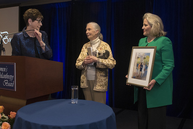 June Henton, Jane Goodall and Sid James.
