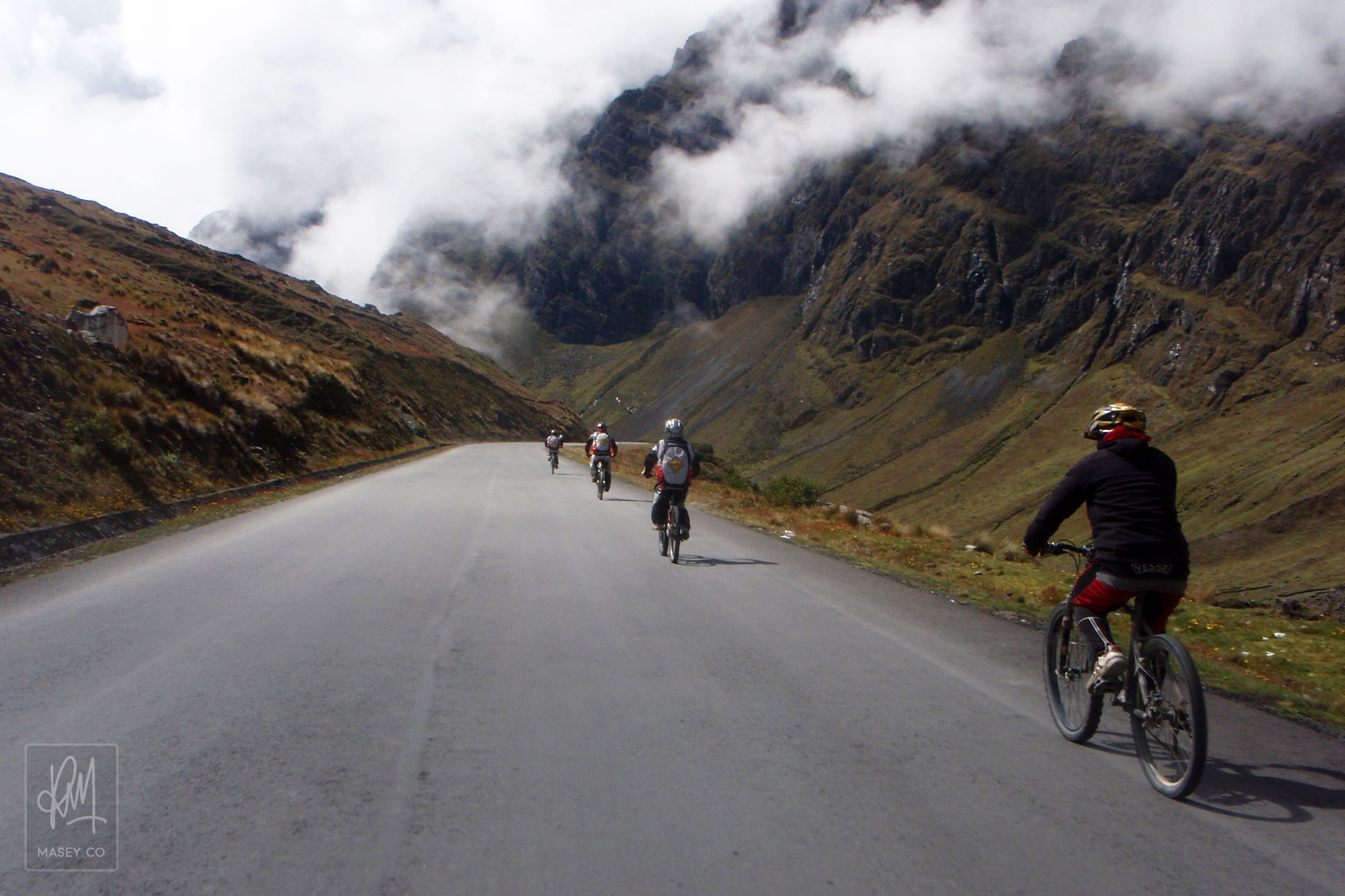 Mountain biking down Bolivia's famed Death Road