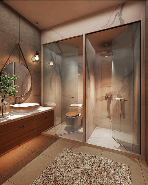 thiết kế WC nhà mẫu dự án nhà phố Bùi Tư Toàn 1