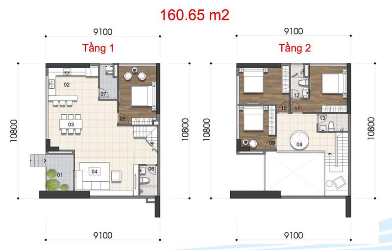 Gem Riverside thiết kế mẫu Duplex Villa - Penthouse 4