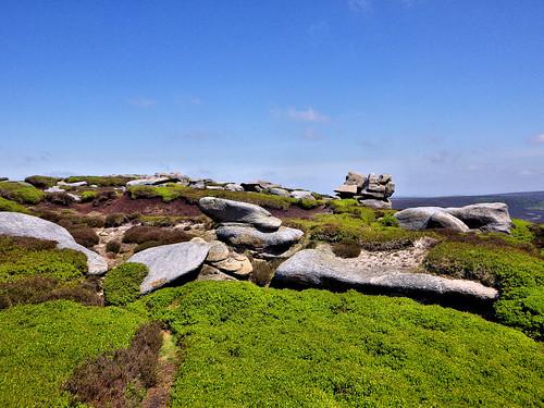 The Barrow Stones on Bleaklow