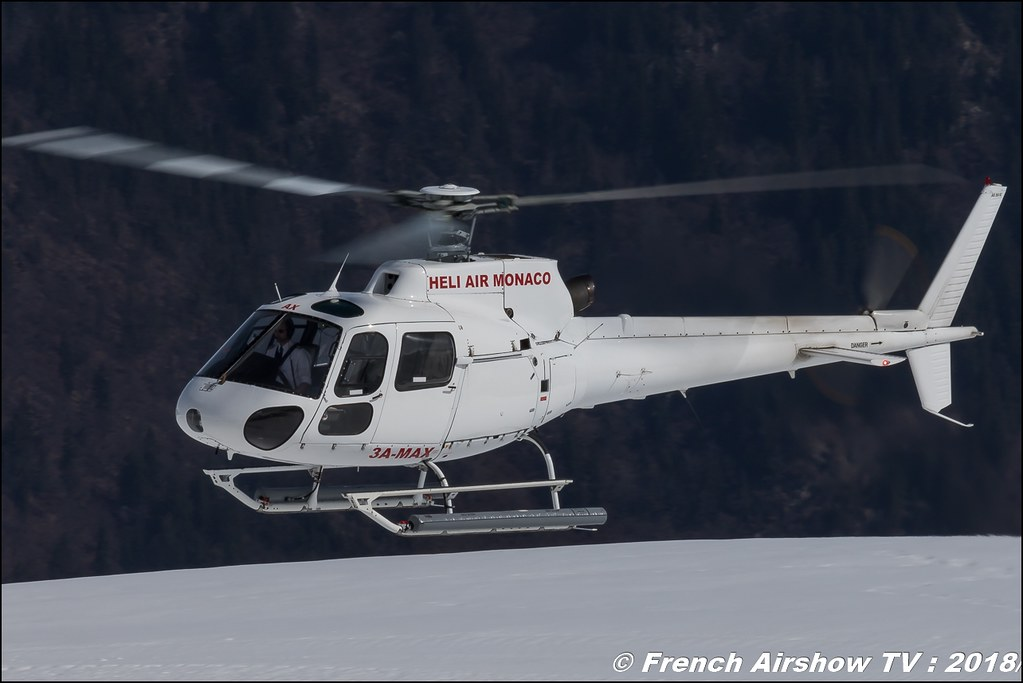 Aérospatiale AS-350 BA Ecureuil - 3A-MAX , Fly Courchevel 2018 - Altiport Courchevel , Meeting Aerien 2018