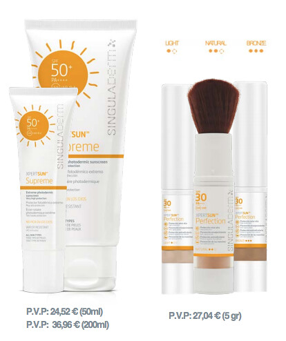 XPERTSUN Supreme SPF50+ y Perfection.
