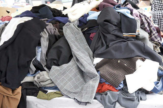 Pile of used clothing