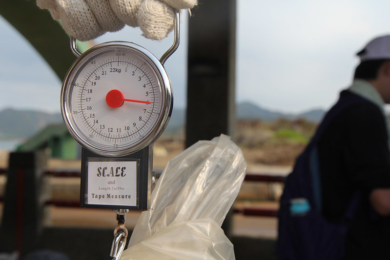 測量廢棄物重量
