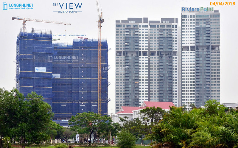 Tiến độ thi công đầu tháng 04-2018 tại The View - Riviera Point quận 7.
