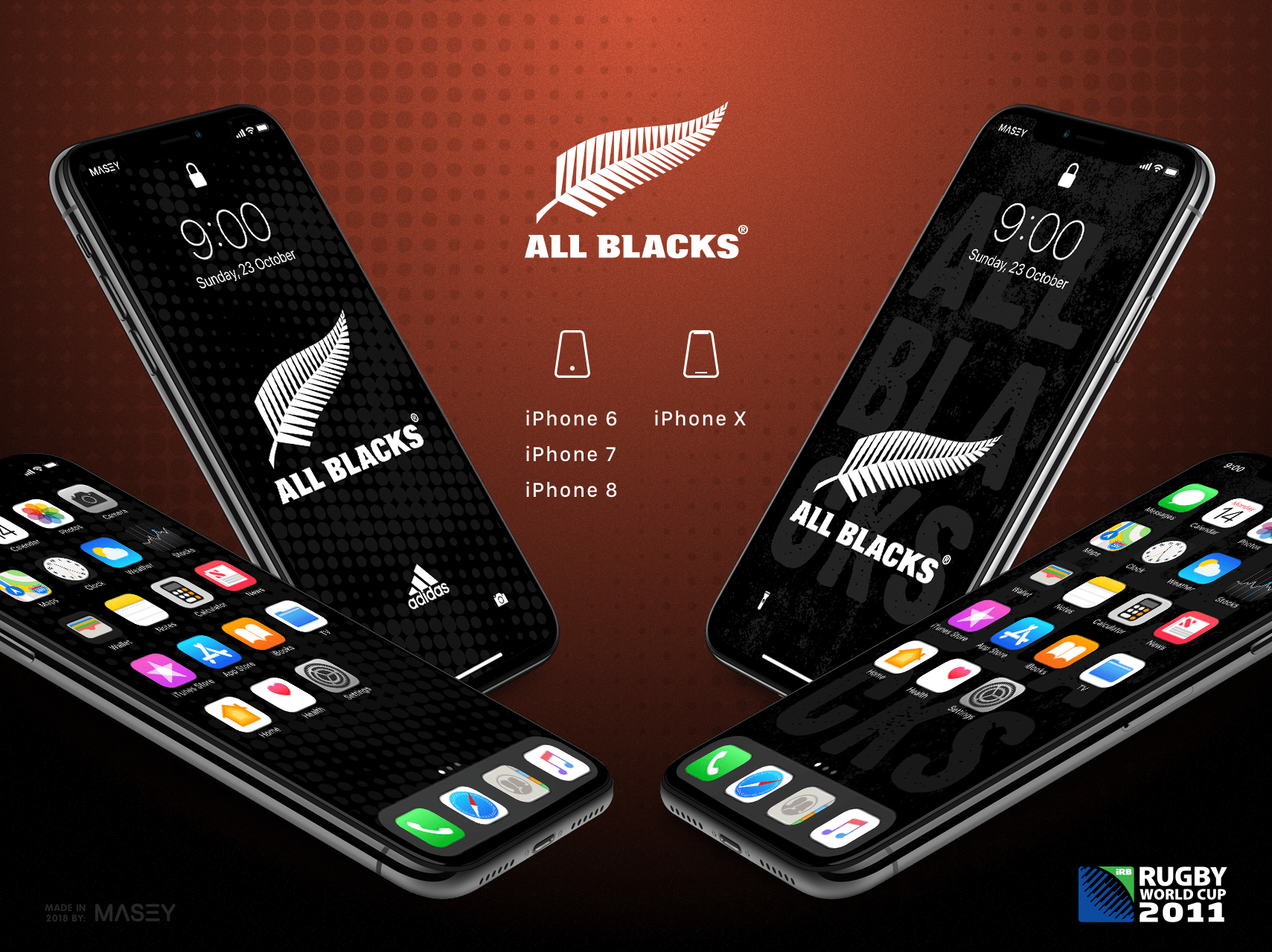 New Zealand All Blacks iPhone Wallpaper