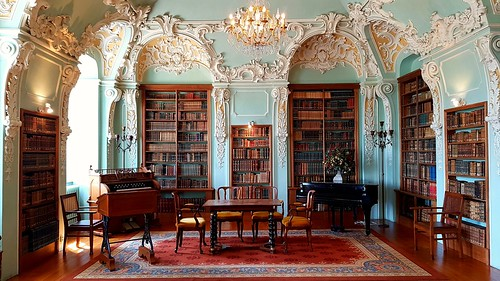 Rococo library at the Rolduc Abbey in Kerkrade, NL | by dimstudi0
