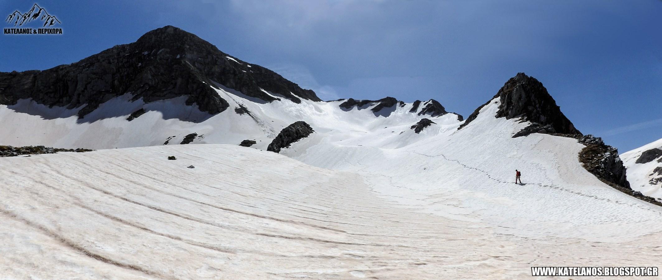 ορος χατζη αναβαση χιονια βορεια πλευρα