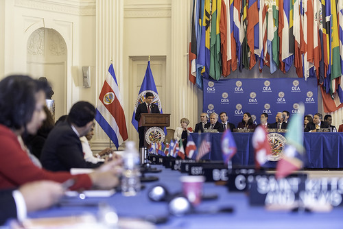 OAS Permanent Council Received the President of Costa Rica
