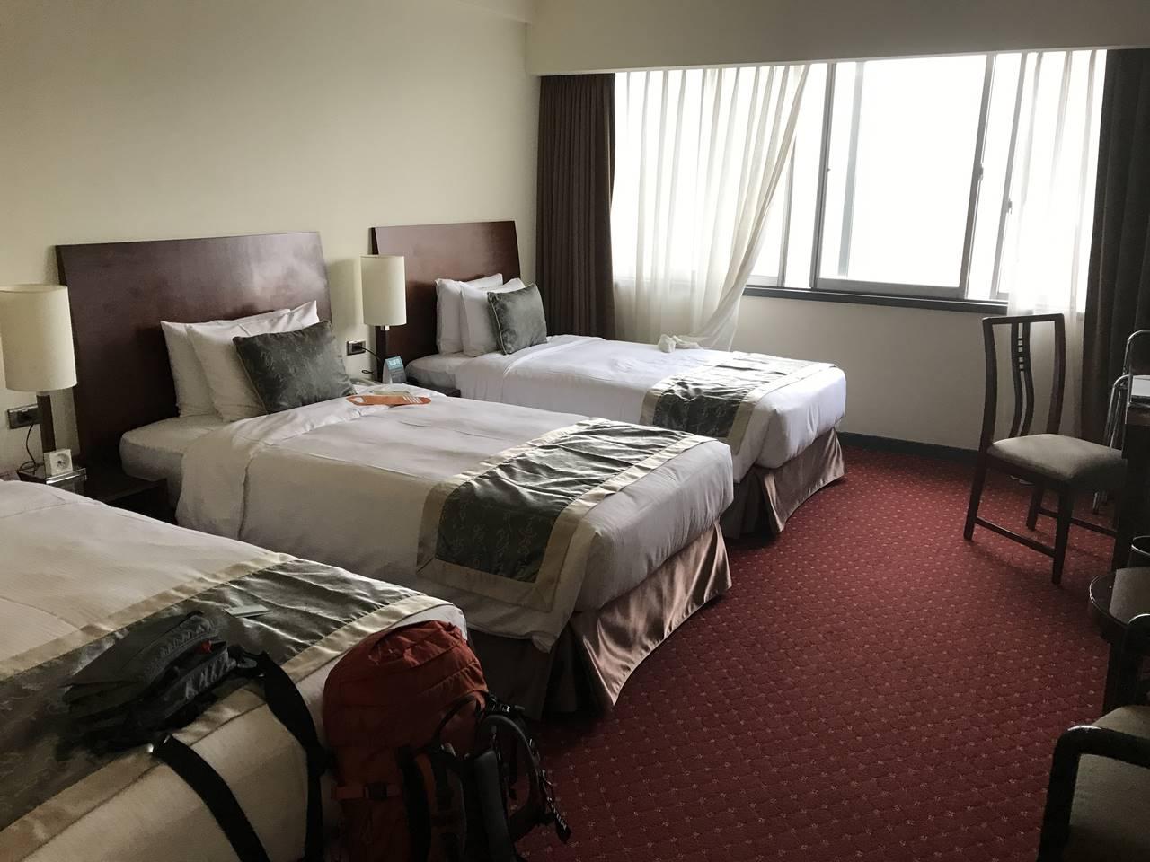 台湾・台北 シーザーパークホテル部屋
