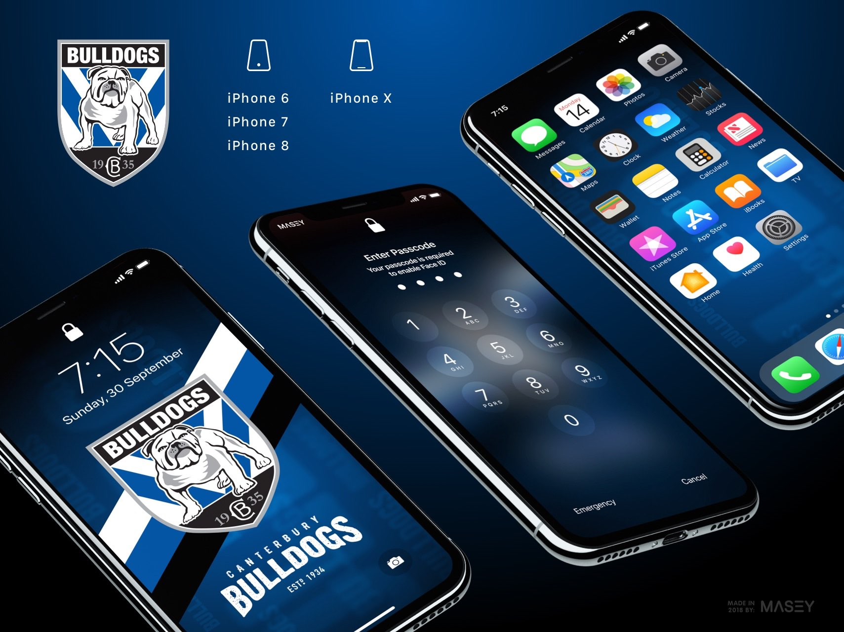 Canterbury Bulldogs iPhone Wallpaper