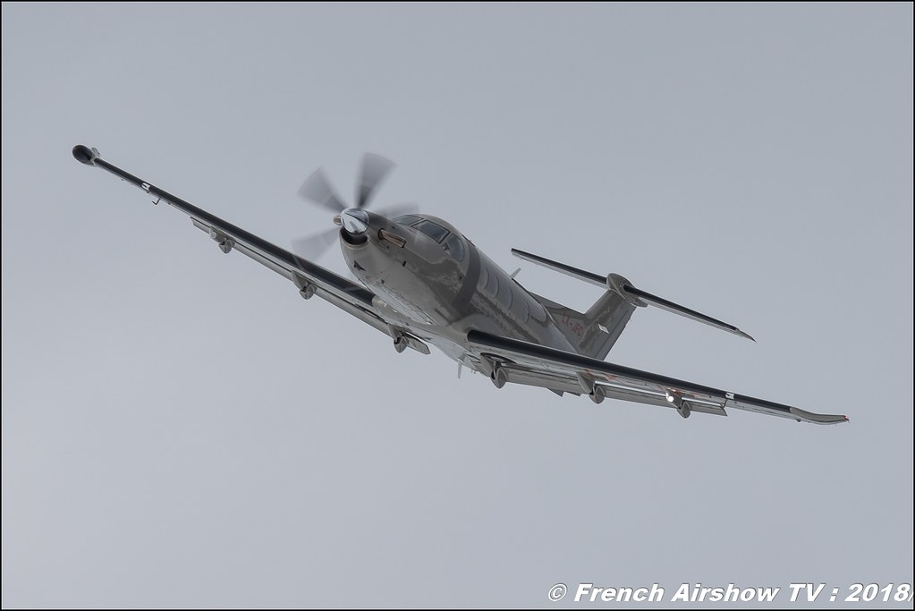 Pilatus PC-12/47E - Jetfly Avaition , Fly Courchevel 2018 - Altiport Courchevel , Meeting Aerien 2018