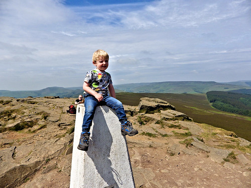 Trig point photo on Win Hill
