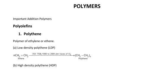 Important Notes of Chemistry for NEET, JEE: Polymers | AglaSem Admission