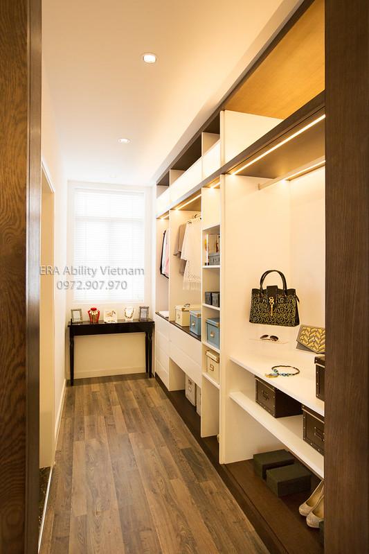 Kệ tủ quần áo, đồ dùng cá nhân, nhà mẫu Biệt thự Villa Park
