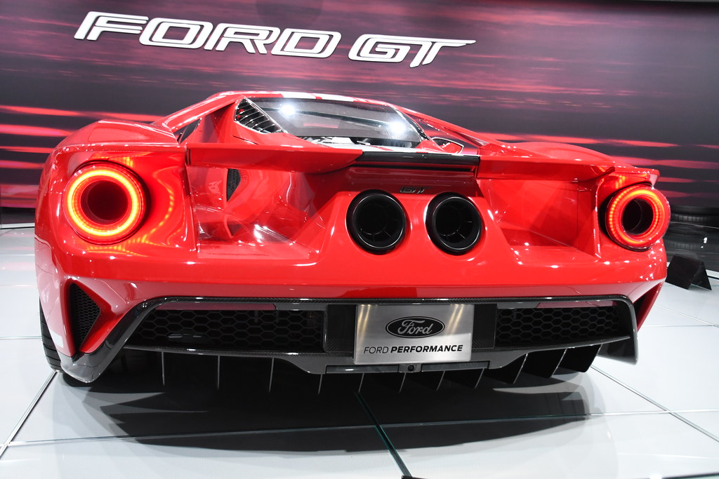 Ford Gt Rear View  North American International Auto Show In Detroit By