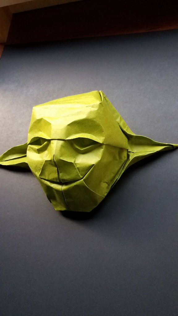 Origami Yoda Mask Designed By Me Using Techniques From Fy Flickr