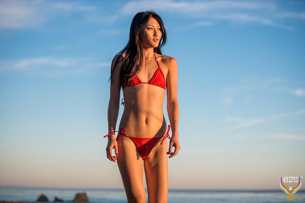 Join Asian bikini beach