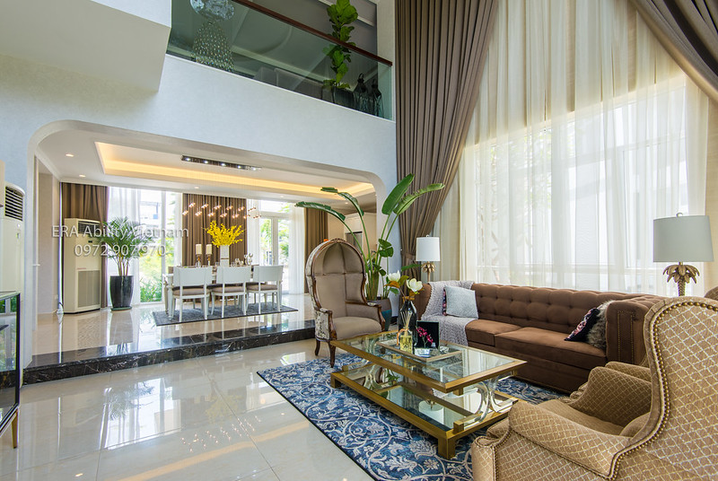 phòng khách nhà mẫu Biệt thự Villa Park