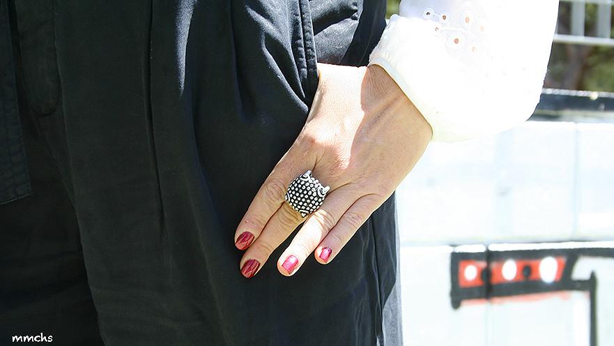 anillo de plata piedras