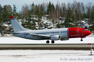 Norwegian B737-3Y5 LN-KKC at ENGM/OSL 06-04-2009 | by Ole Johan Beck