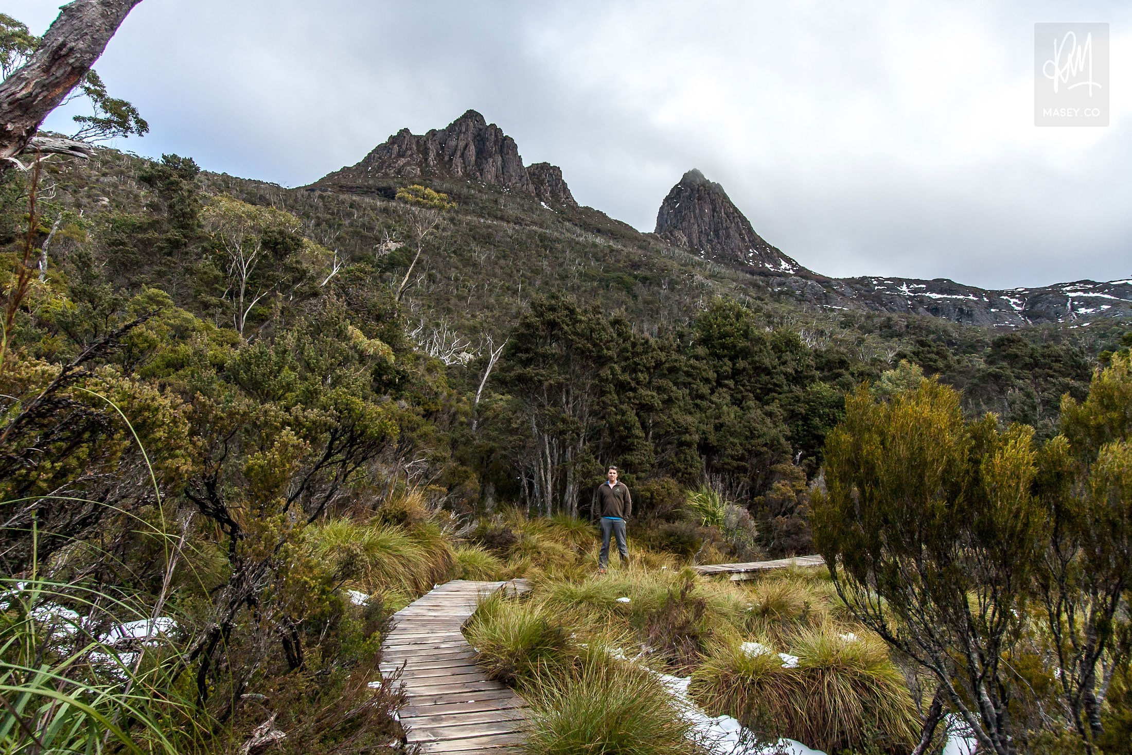 At the foot of Cradle Mountain