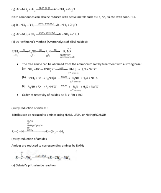Important Notes of Chemistry for NEET, JEE: Amines
