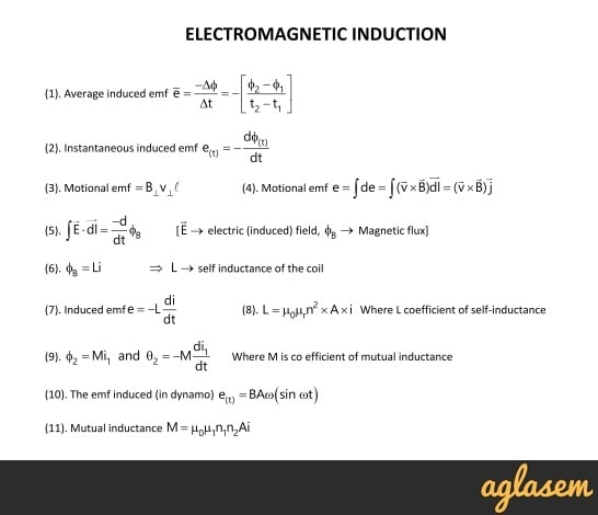 Important Notes of Physics for NEET, JEE: Electromagnetic