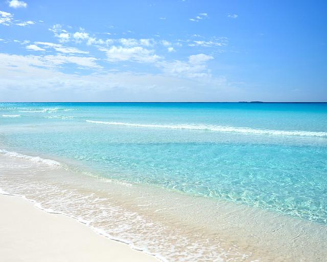 Aguas de playa Sirena, en Cayo Largo del Sur, una de las playas más paradisíacas de Cuba