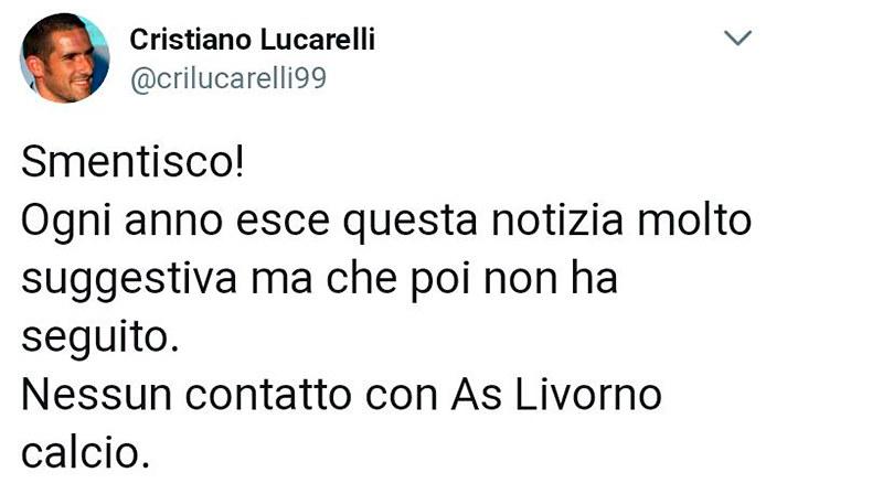 Il tweet di Cristiano Lucarelli