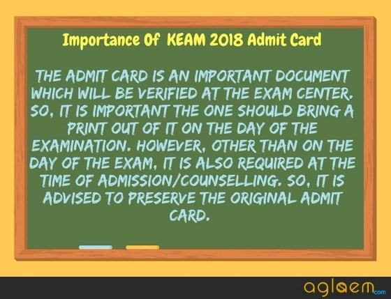 KEAM 2018 Admit Card: Released, Download Here, Exam Date - 23-24 April
