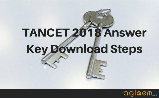 TANCET 2018 Answer Key