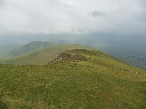 Looking back from Foel Gron