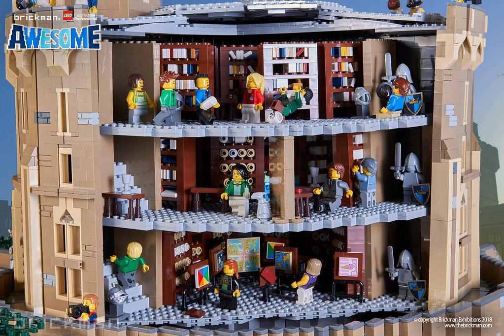 lego brick windsor castle interior by thebrickman
