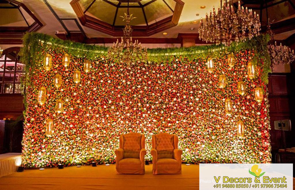 Wedding Reception Stage Decoration In Trichy Wedding Planner Flickr